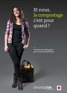 Affiche du guide du compostage du Grand Lyon