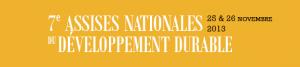 Assises Nationales du Développement Durable 25 et 26 Novembre 2013 à Marseille
