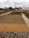Le chantier du futur parking des Panettes à Meyzieu