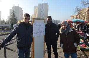 La promotion du Vélo et la rencontre des habitants grâce aux « Porteur de paroles » à Vaulx-en-Velin