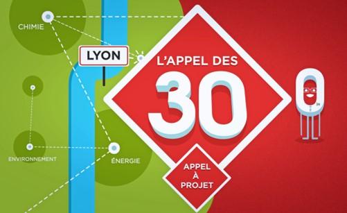 La Métropole de Lyon révèle les 10 lauréats pour la seconde édition de l'Appel des 30 !