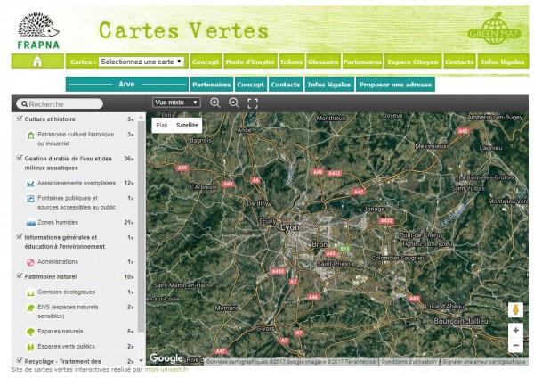La carte verte : le développement durable en pratique, dans mon quartier !