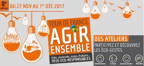 Tour de France Agir ensemble 2017 : universités, écoles, étudiants, personnels des établissements … Tous éco-responsables
