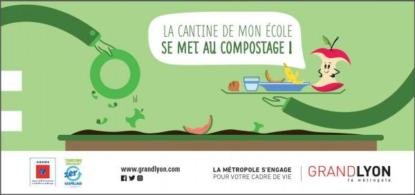 Le compostage en cantine scolaire se développe sur l'agglomération lyonnaise !