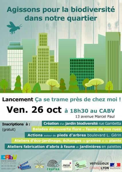 Soirée de lancement du projet «Ça se trame près de chez moi !» le 26 octobre à 18h30 au CABV