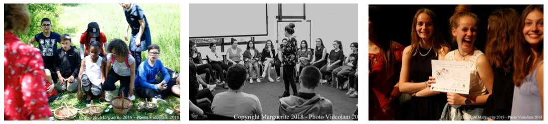 Des ateliers avec des associations partenaires avant la remise des prix !  © Projet Marguerite 2018 – Photo : Videolam