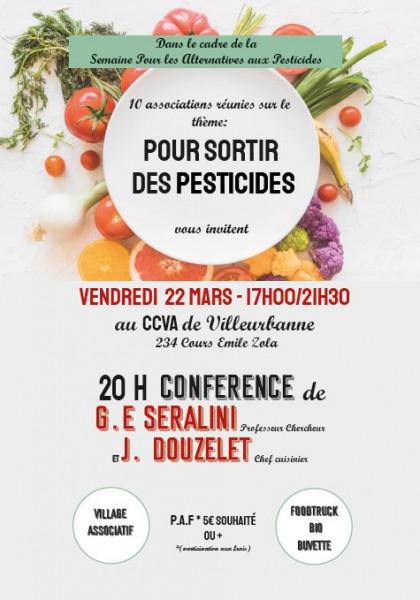 Dix associations lyonnaises vous invitent le vendredi 22 Mars «Pour sortir des pesticides» à Villeurbanne