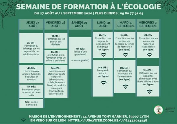Envie de vous formez ? CIE vous propose une semaine de formation à l'écologie à partir du 27 août.