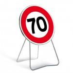 panneau de signalisation vitesse limitée à 70 km/h
