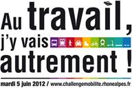 """""""Au travail, j'y vais autrement"""", affiche de l'édition 2 du challenge mobilité"""
