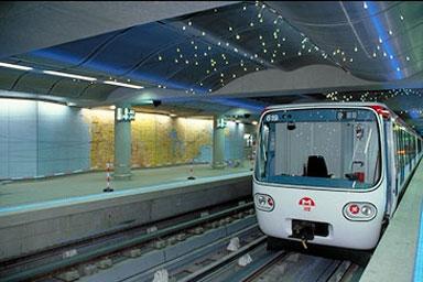 La ligne de métro B, à Lyon