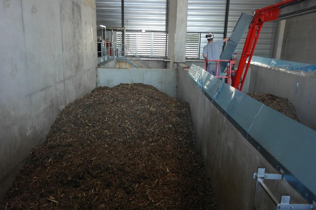 La chaufferie biomasse dispose d'une capacité de stockage de trois jours en pleine période de chauffe.