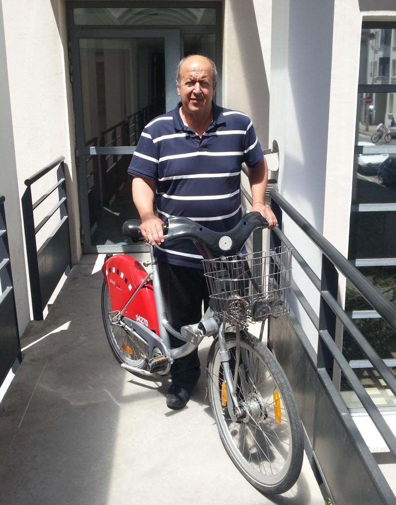 Djemal : faire chaque jour près de 10km en vélo'v.. c'est possible !
