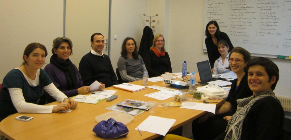 Caroline, Sandrine, Etienne, Nélia, Nadège, Flavia, Chantal, Angela et Anaïs : une équipe très féminine pour ce défi énergétique !