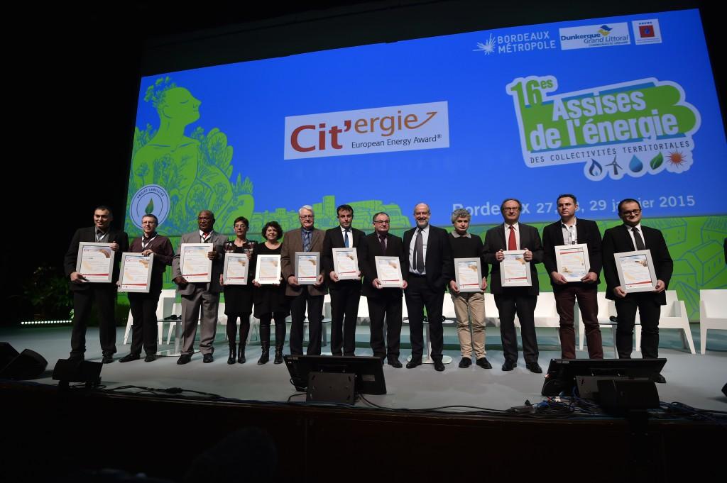 Le 29 janvier, 13 collectivités ont reçu le label Cit'ergie à Bordeaux