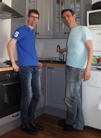 Mathieu et Etienne, couple de l'équipe d'Oullins