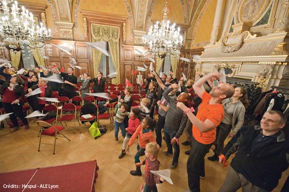 Soirée de lancement de la 6e saison du défi à l'Hôtel de Ville de Lyon