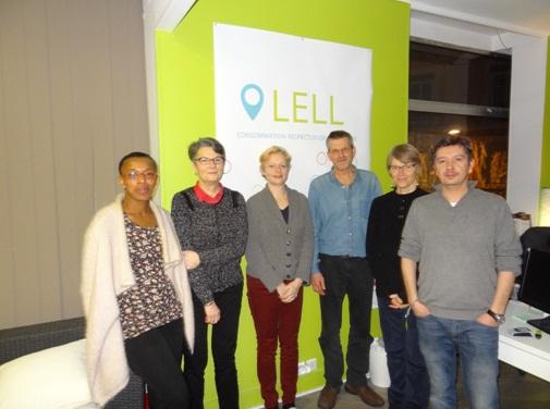 Sylvie, Brigitte, Sonia, Jean-Marc, Anouck et Bruno au sein de la conciergerie LELL ouvert par Bruno cette année
