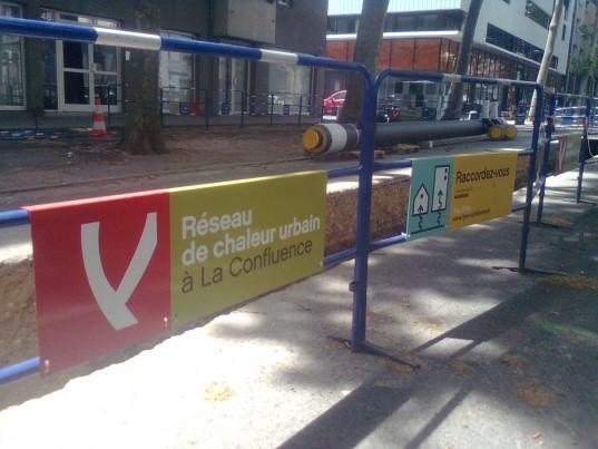 Le réseau de chaleur urbain se développe notamment sur le quartier de Lyon Confluence