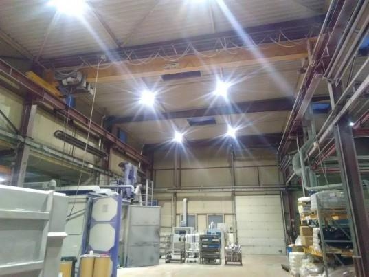 L'entreprise Sappi a investi dans un éclairage LED pour remplacer les néons.