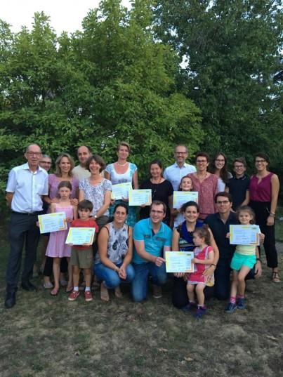 Francois Tardy, capitaine, et toute son équipe, gagnante du défi Famille à énergie positive 2017-2018