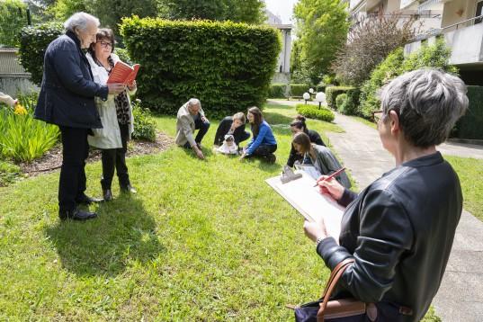 Un groupe d'ambassadeurs du changement en formation collective © Thierry Fournier / Métropole de Lyon